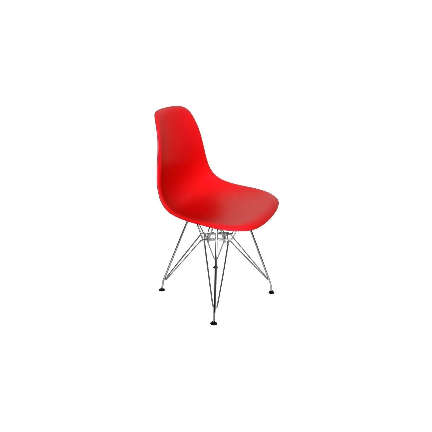 Comprar silla tower chrome roja sillas baratas online for Sillas rojas baratas
