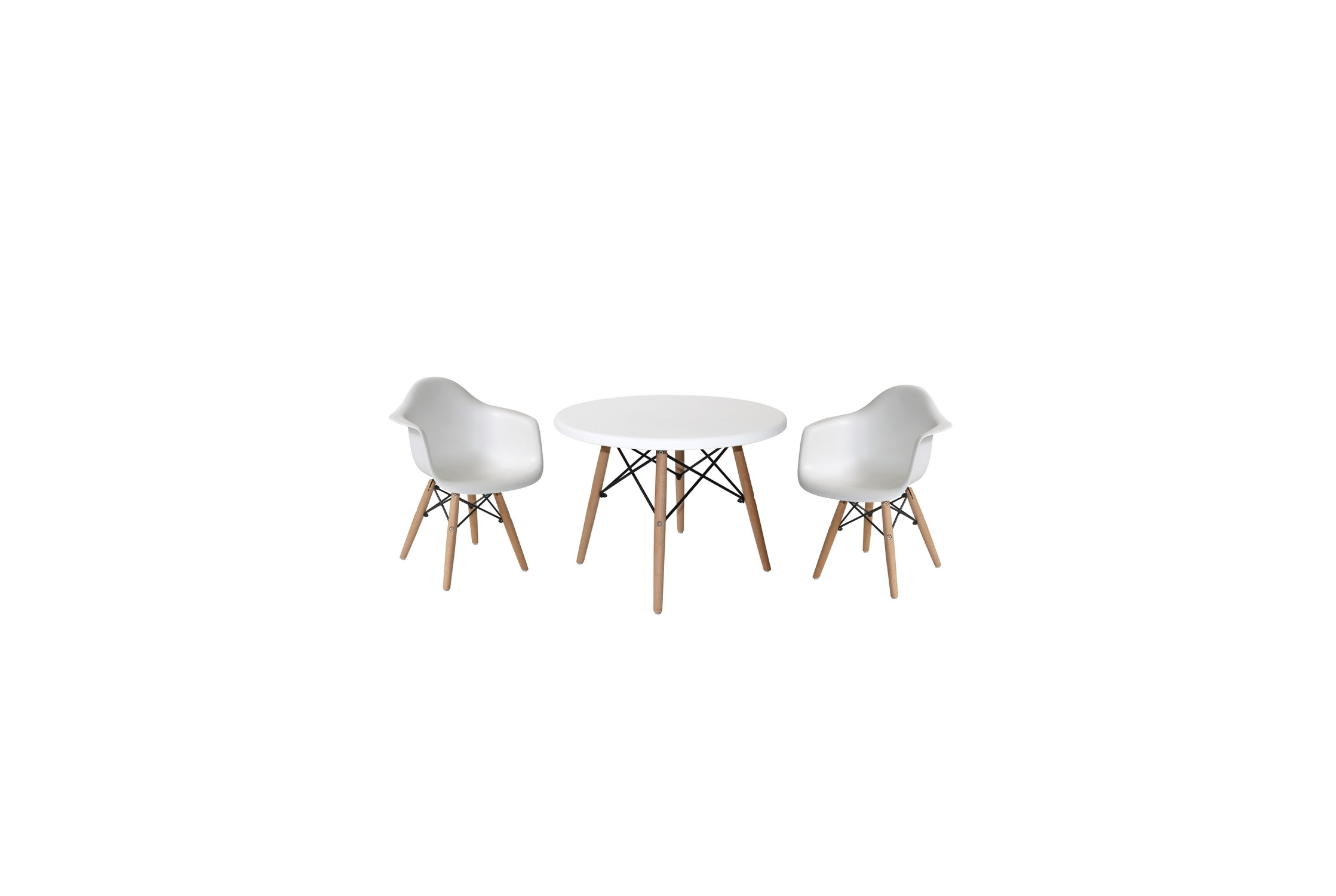 PACK MESA Y 2 SILLONES BABY TOWER BLANCOS