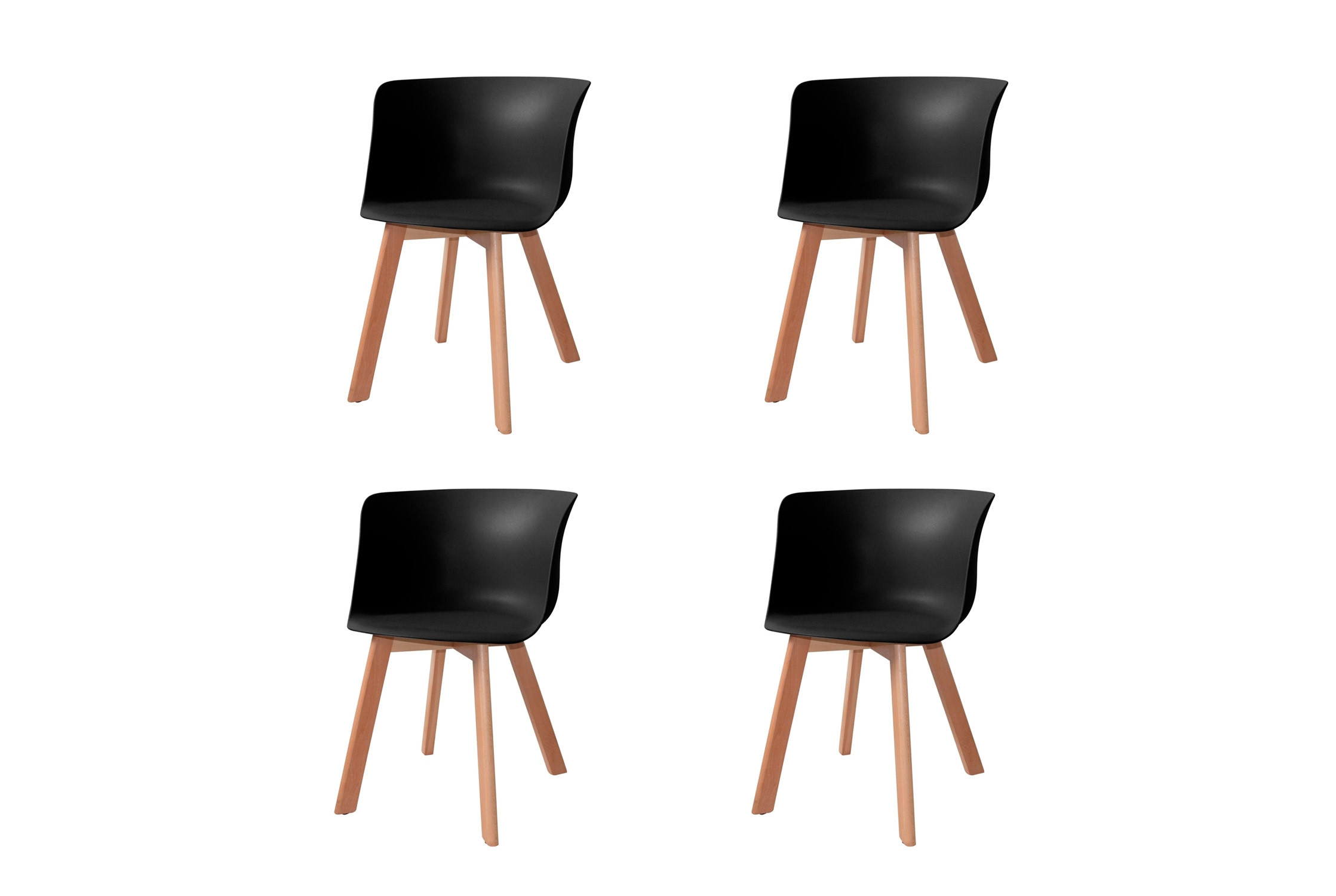 PACK 4 SILLONES WINTER WOOD NEGROS