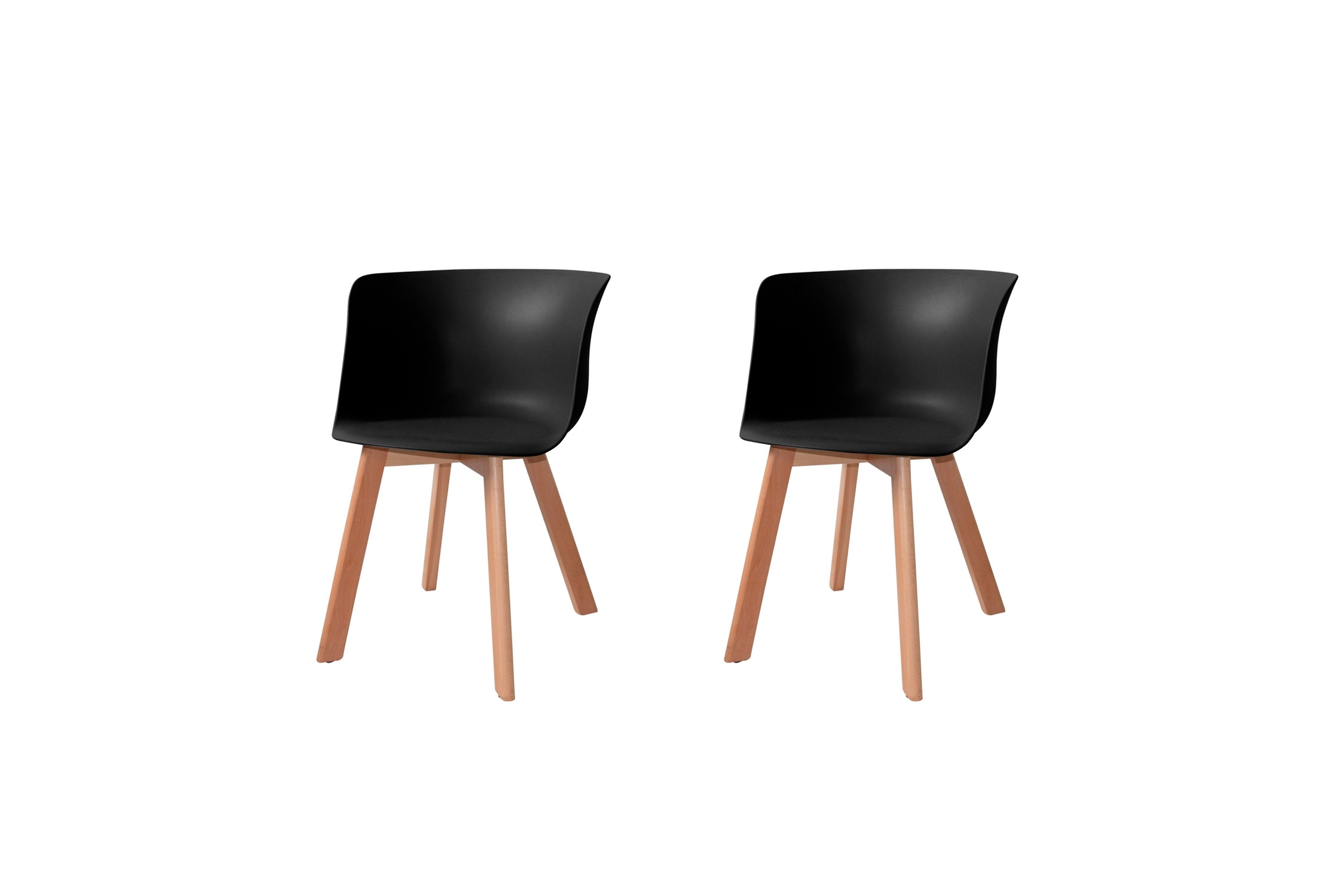 PACK 2 SILLONES WINTER WOOD NEGROS