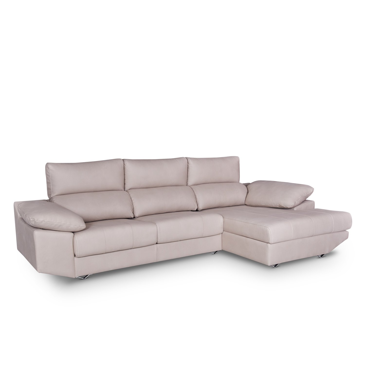 sofa con chaise longue con arc n c modo en tres colores